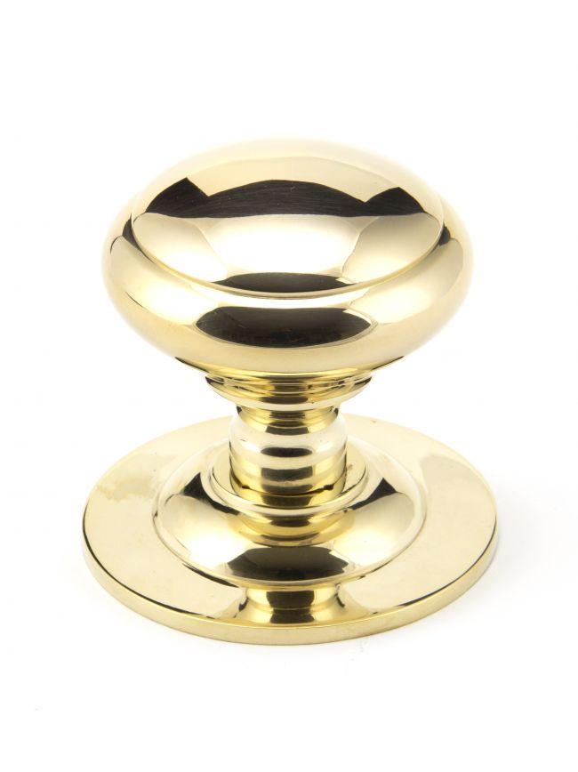 Polished Brass Round Centre Door Knob