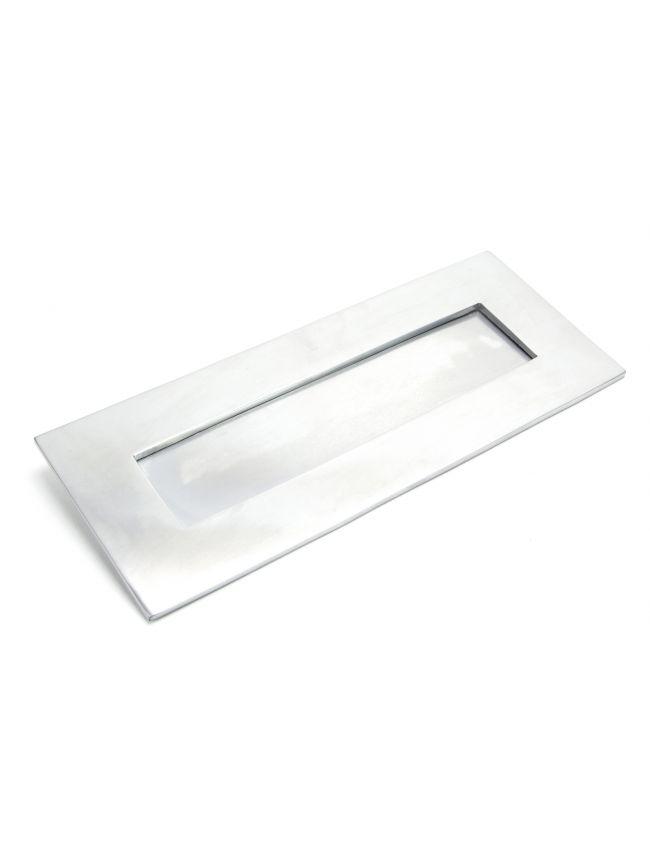 Satin Chrome Small Letter Plate