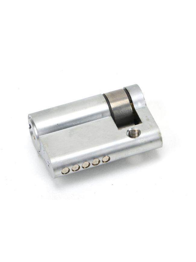 Satin Chrome 35/10 5pin Single Cylinder