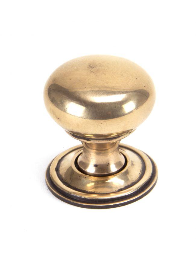 Polished Bronze Mushroom Cabinet Knob 32mm