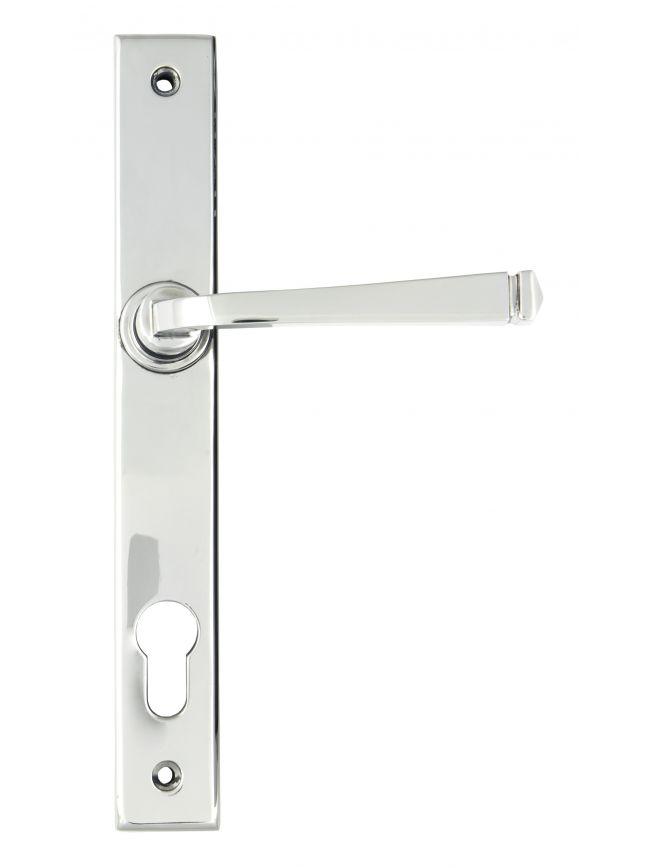Polished Chrome Avon Slimline Lever Espag. Lock Set