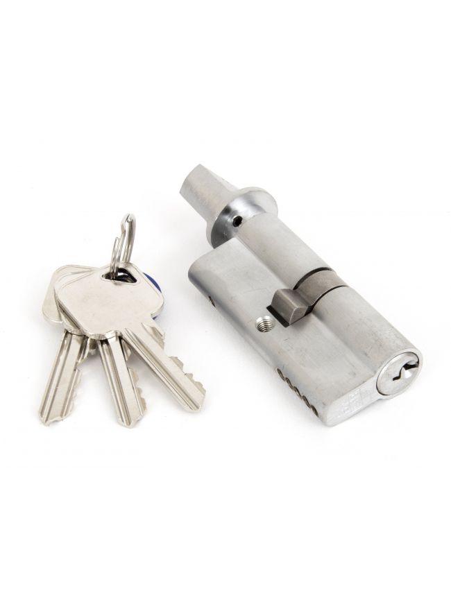 Satin Chrome 35/35 5pin Euro Cylinder/Thumbturn KA
