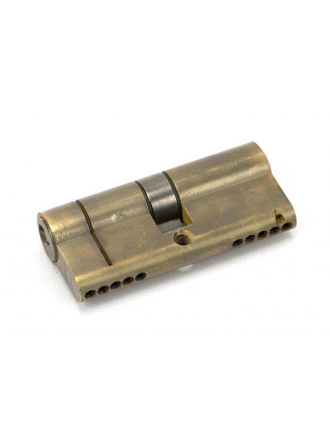Aged Brass 35/35 5pin Euro Cylinder KA