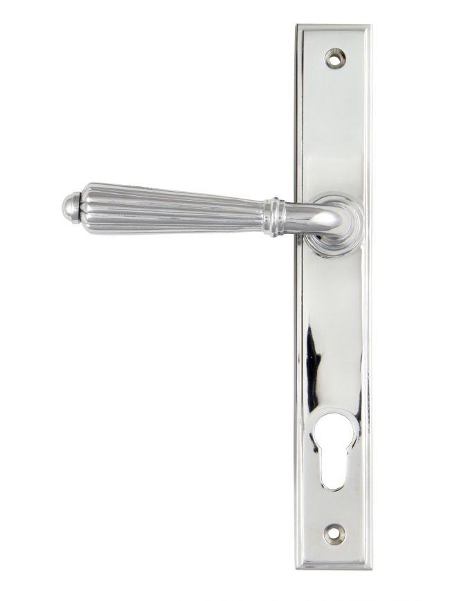 Polished Chrome Hinton Slimline Lever Espag. Lock Set