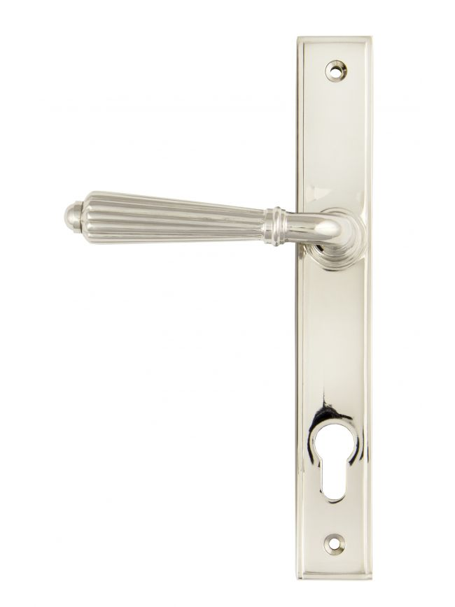 Polished Nickel Hinton Slimline Lever Espag. Lock Set
