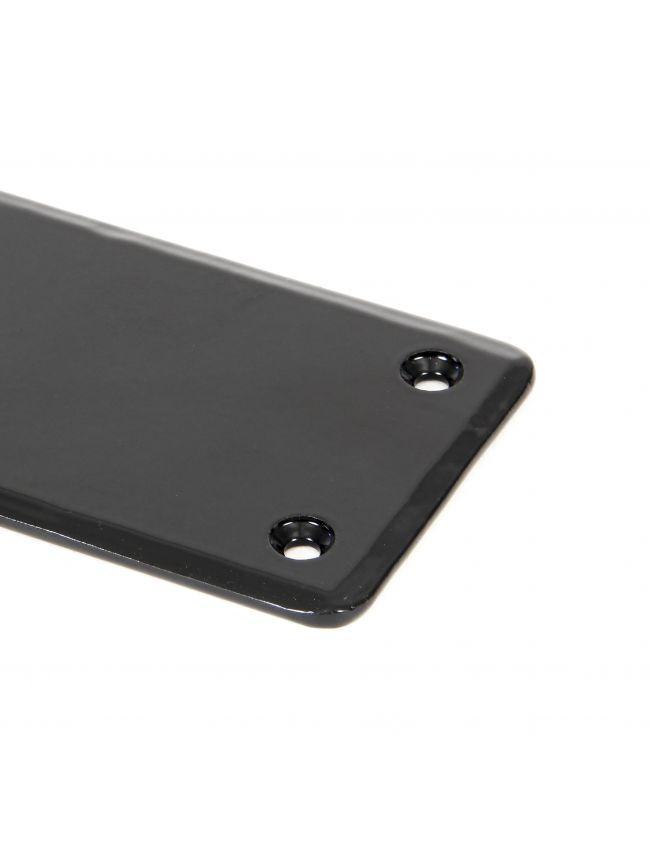 Black 1800mm Plain Fingerplate