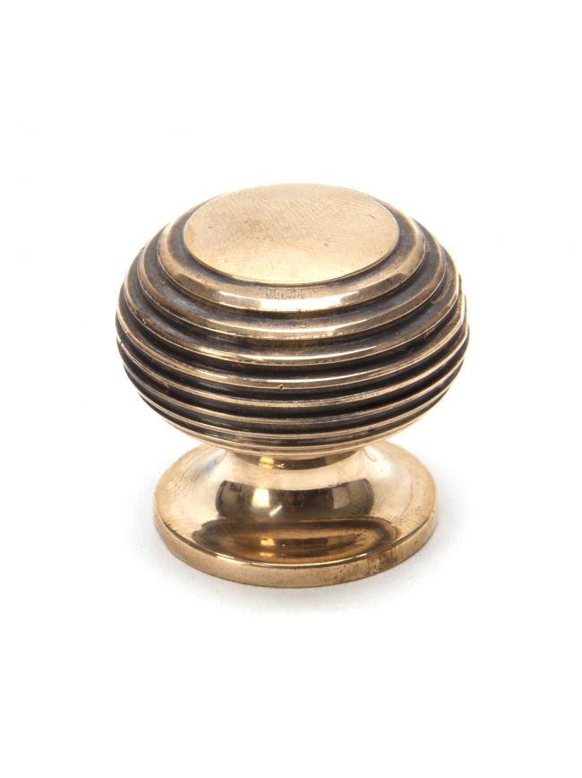 Polished Bronze Beehive Cabinet Knob 30mm