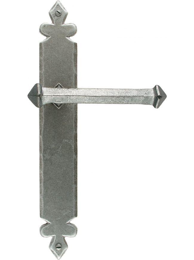 Pewter Tudor Lever Latch Set