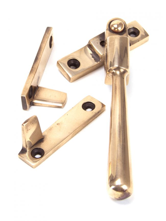 Polished Bronze Night-Vent Locking Newbury Fastener