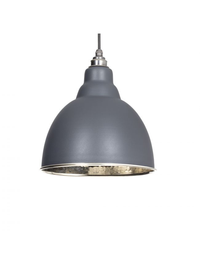 Dark Grey Hammered Nickel Brindley Pendant