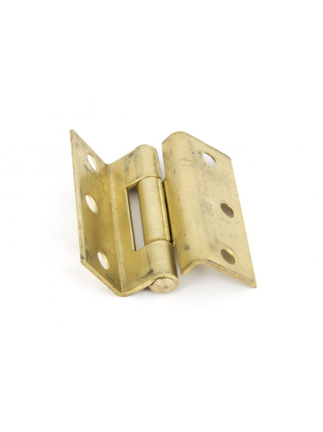 "Self  Coloured Brass 2.5"" Stormproof Hinges (pair)"