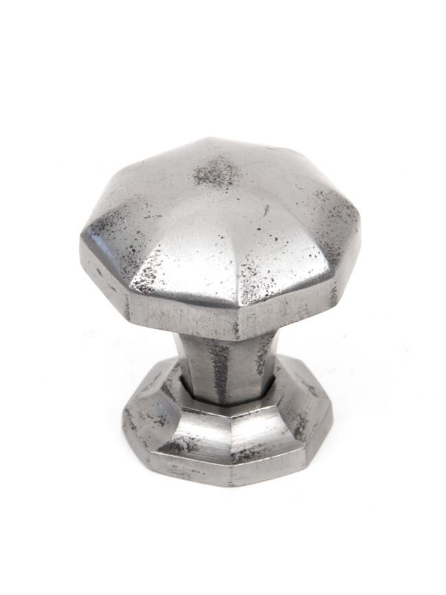 Natural Smooth Octagonal Cabinet Knob - Small