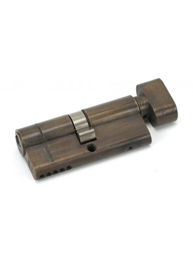 Aged Brass 35/35 5pin Euro Cylinder/Thumbturn KA