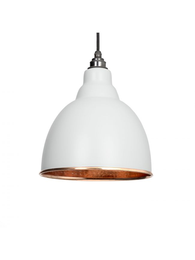 Light Grey Hammered Copper Brindley Pendant