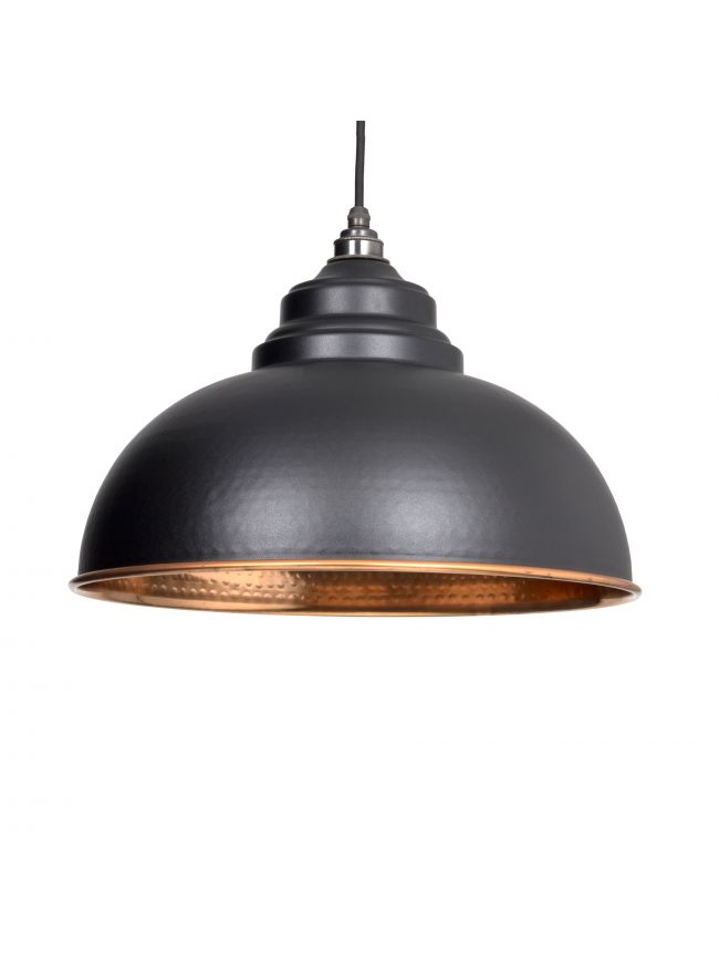 Black Hammered Copper Harborne Pendant