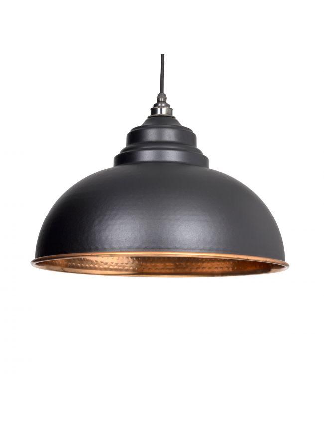 Black Hammered Copper Harborne Pendant