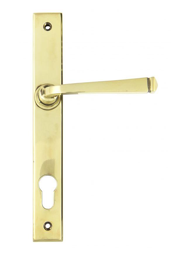 Aged Brass Avon Slimline Lever Espag. Lock Set