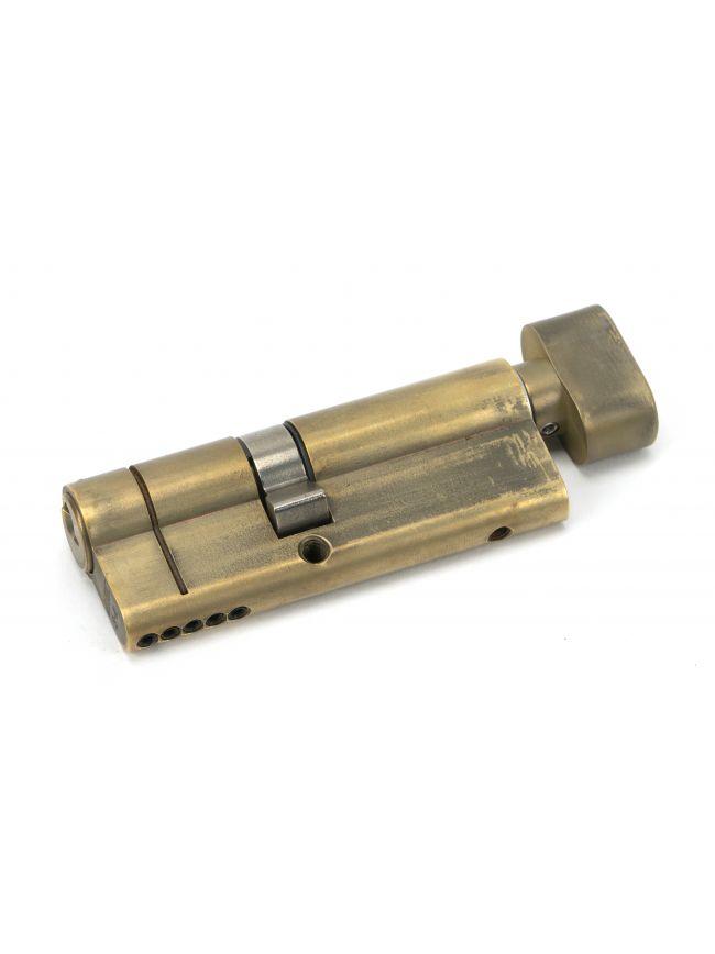 Aged Brass 35/45T 5pin Euro Cylinder/Thumbturn