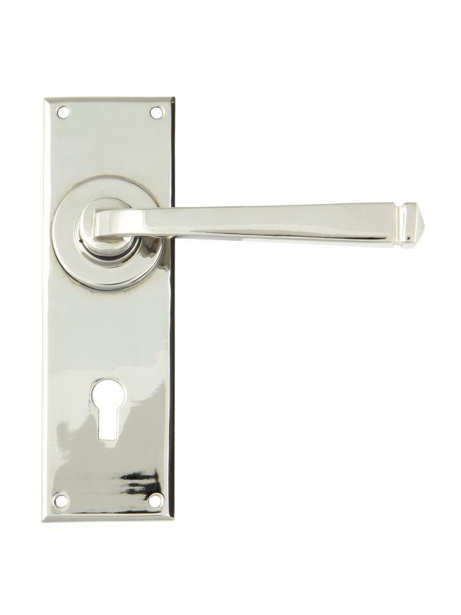 Polished Nickel Avon Lever Lock Set