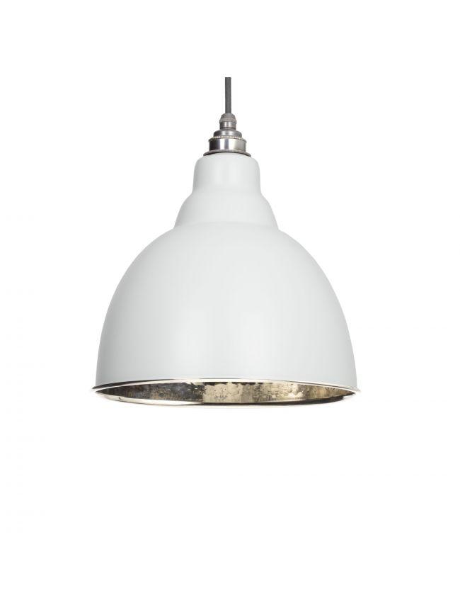Light Grey Hammered Nickel Brindley Pendant