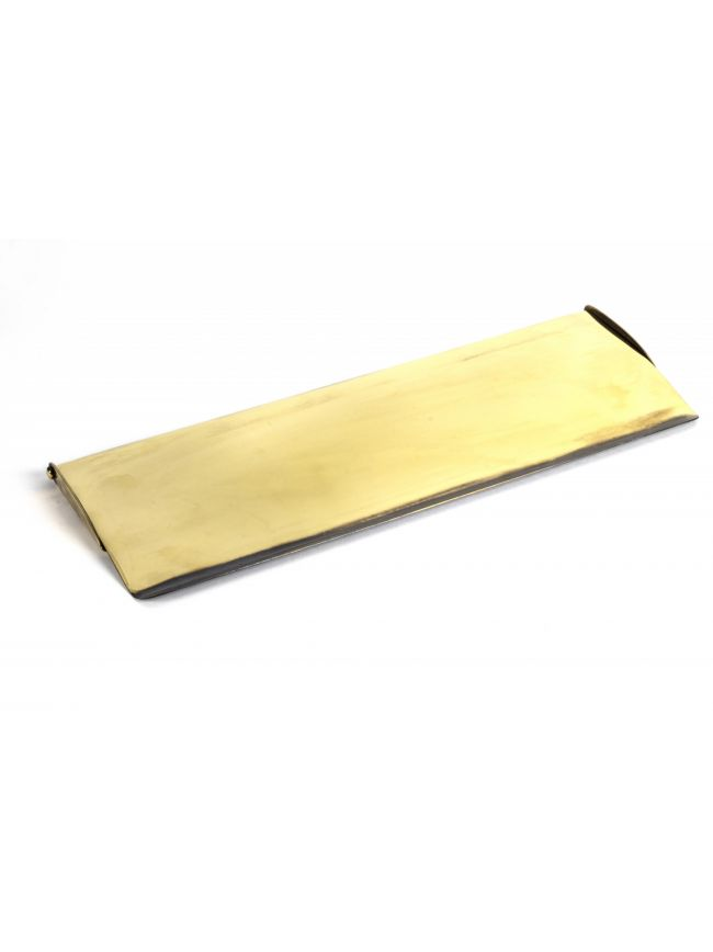 Aged Brass Large Letter Plate Cover
