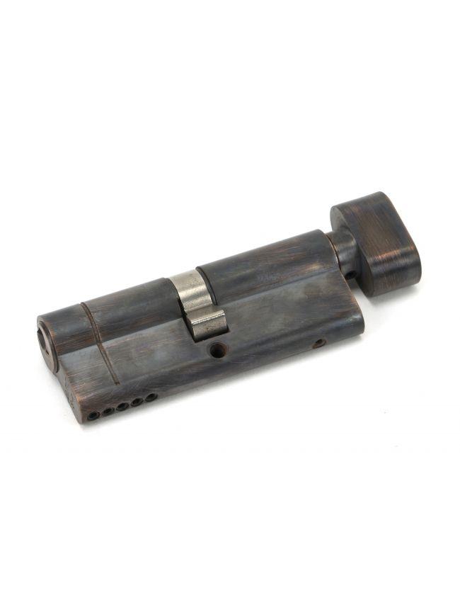 Aged Bronze 40/40 5pin Euro Cylinder/Thumbturn