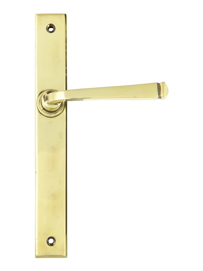 Aged Brass Avon Slimline Lever Latch Set