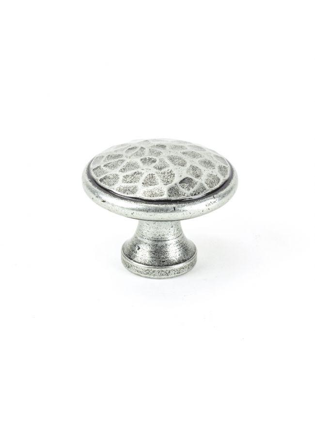 Pewter Hammered Cabinet Knob - Large