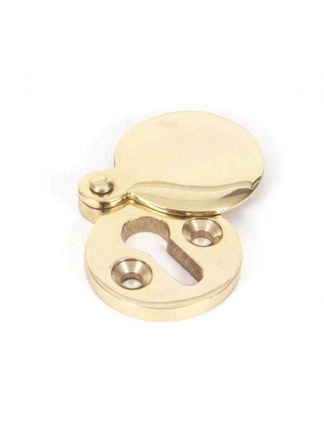 Polished Brass 30mm Round Escutcheon