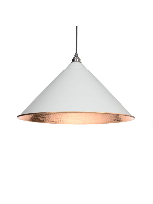 Light Grey Hammered Copper Hockley Pendant