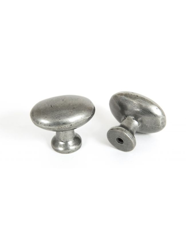 Pewter Oval Cabinet Knob