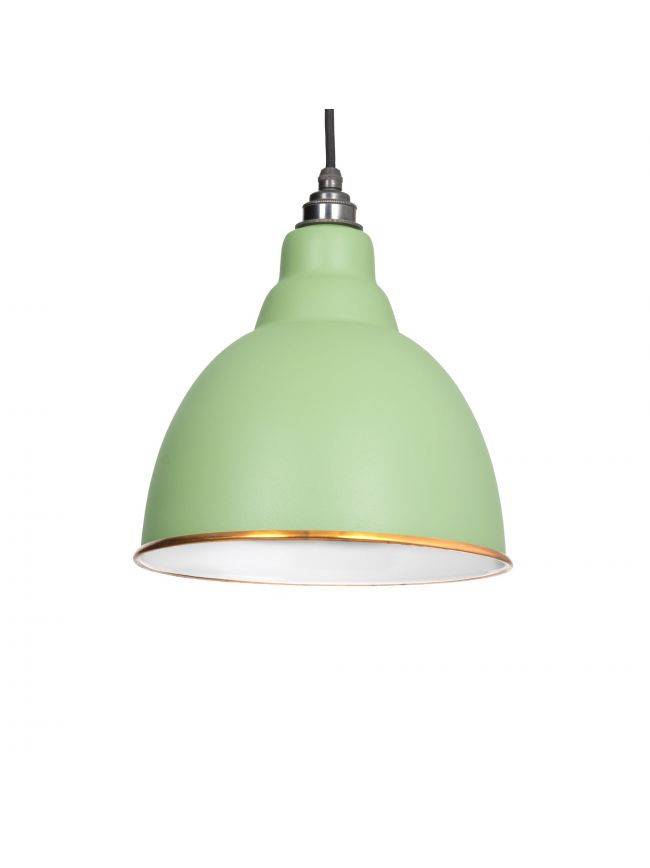 The Brindley Pendant in Sage Green