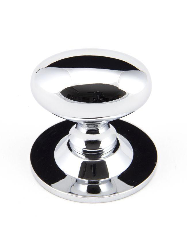 Polished Chrome Oval Cabinet Knob 40mm